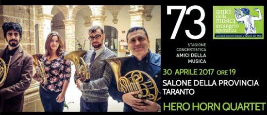 Hero Horn Quartet al Salone della Provincia di Taranto