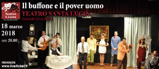 Il buffone e il pover uomo al Teatro Santa Lucia di Gioia del Colle