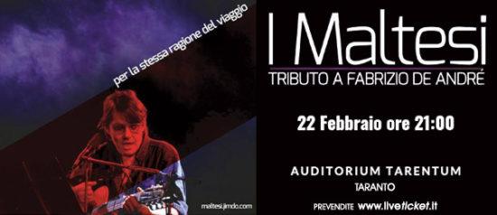 I Maltesi - tributo a Fabrizio De Andrè all'Auditorium Tarentum di Taranto