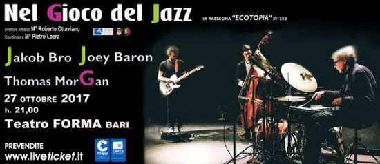 Jakob Bro trio al Teatro Forma di Bari