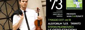 """Stefan Milenkovich in """"Le otto stagioni"""" al Teatro TaTà di Taranto"""