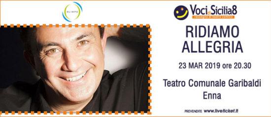 Ridiamo Allegria al Teatro Garibaldi di Enna