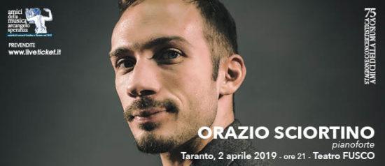 Orazio Sciortino al Teatro Fusco di Taranto