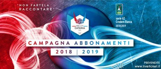 Messaggerie Bacco Volley Catania serie A2 Credem Banca Stagione 2018/19
