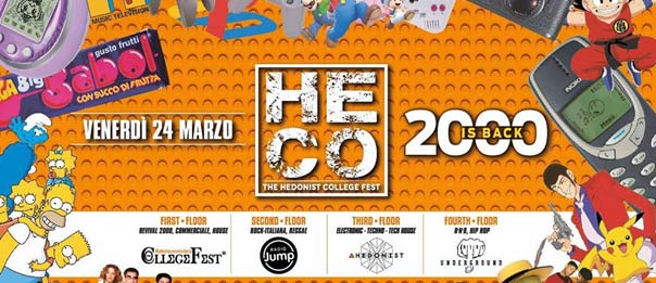 """""""Heco - The Hedonist College"""" 2000 is back al Controsenso di Forlì"""
