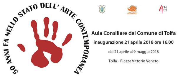 50 anni fa nello stato dell'Arte Contemporanea all'Aula Consiliare di Tolfa