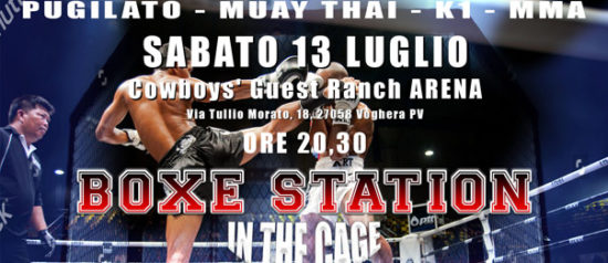 Boxe Sation in the Cage al Cowboys' Guest Ranch Arena di Voghera