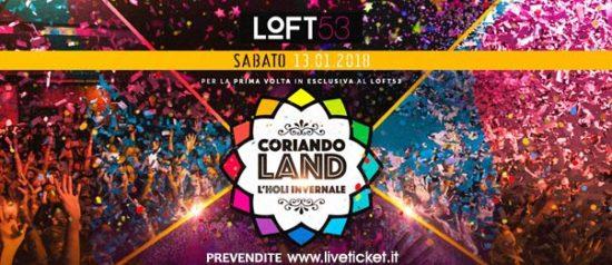 Coriandoland - l'Holi invernale al Loft 53 di Luino