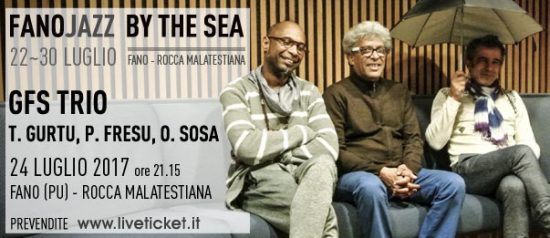"""GFS Trio"" Trilok Gurtu, Paolo Fresu e Omar Sosa al Fano Jazz by the Sea 2017"