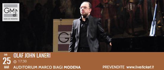Olaf John Laneri all'Auditorium Marco Biagi di Modena