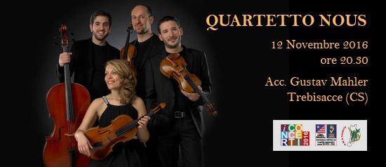 Il Quartetto Noûs all'Accademia Gustav Mahler di Trebisacce (CS)