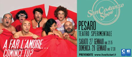 "San Costanzo Show ""A far l'amore, cominci tu?"" al Teatro Sperimentale di Pesaro"