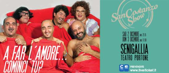 """San Costanzo Show """"A far l'amore...cominci tu?"""" al Teatro Portone di Senigallia"""