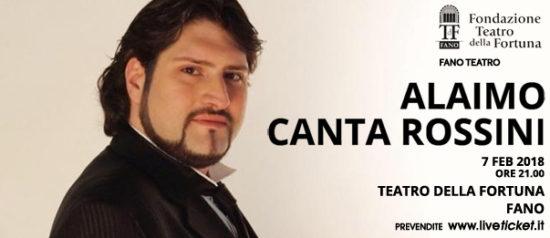 Alaimo canta Rossini al Teatro della Fortuna a Fano