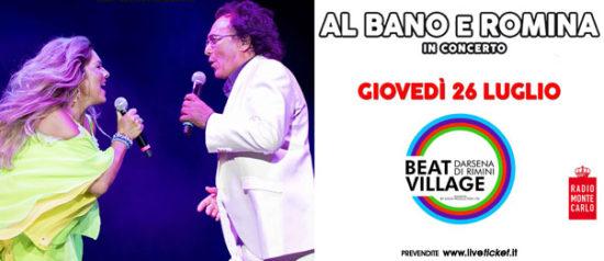 Albano e Romina in concerto al Beat Village alla Nuova Darsena di Rimini