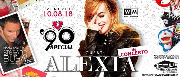 90 Special: Alexia in concerto a La Capannina di Franceschi di Forte dei Marmi