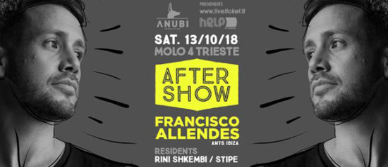Helpiscoming AfterShow - Francisco Allendes al Molo 4 a Trieste