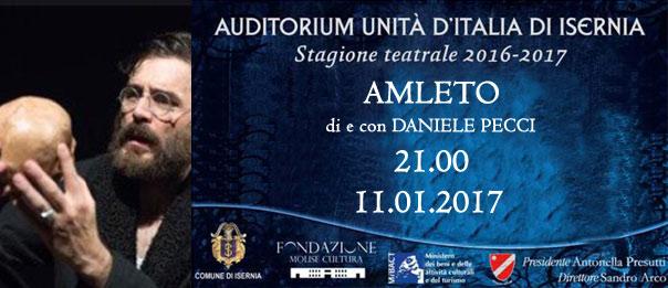 """""""Amleto"""" di Daniele Pecci all'Auditorium Unità d'Italia di Isernia"""