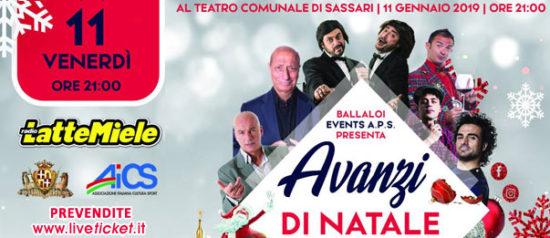 Avanzi di Natale 2019 al Teatro Comunale di Sassari