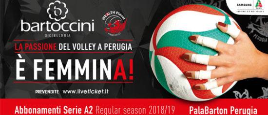 Bartoccini Gioiellerie Perugia Lega Pallavolo Serie A2 Stagione 2018/19