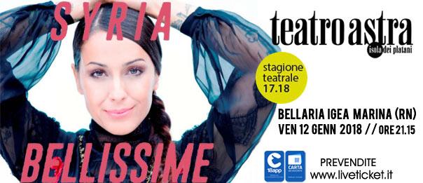 """Syria """"Bellissime"""" al Teatro Astra di Bellaria Igea Marina"""