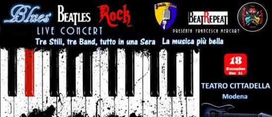 Il Blues i Beatles ed il Rock al Teatro Cittadella di Modena