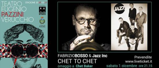 Fabrizio Bosso & Jazz Inc Chet To Chet al Teatro Pazzini di Verucchio