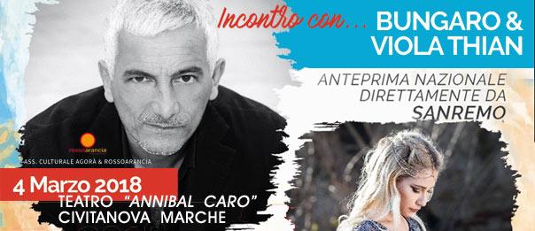 Incontro con Bungaro & Viola Thian al Teatro Annibal Caro di Civitanova Marche Alta