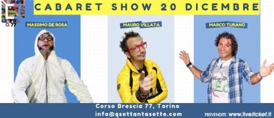 Cabaret show! al Q77 di Torino