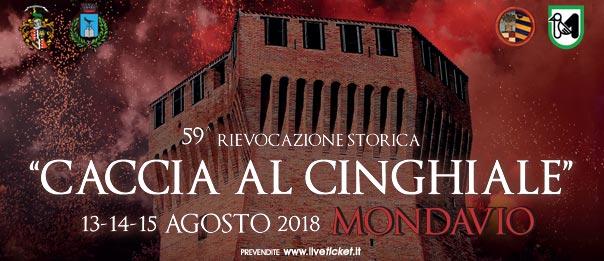 """Rievocazione storica """"Caccia al cinghiale"""" 2018 a Mondavio"""