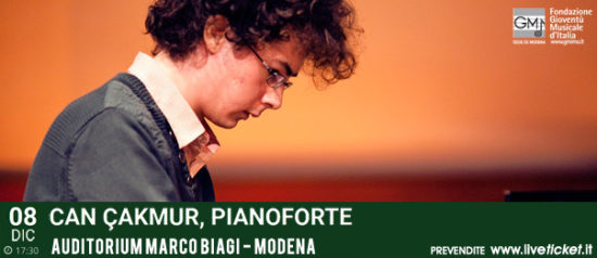 Can Çakmur all'Auditorium Marco Biagi di Modena