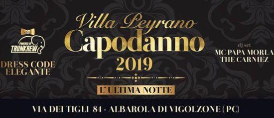 Capodanno 2019 a Villa Peyrano di Albarola di Vigolzone