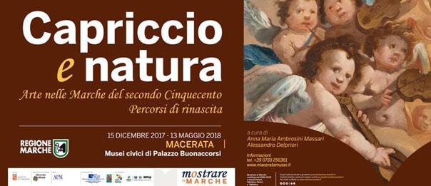 """Mostra """"Capriccio e Natura"""" ai Musei civici di Palazzo Buonaccorsi a Macerata"""