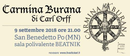Carmina Burana di Carl Orff alla Sala Polivalente Beatnik a San Benedetto Po