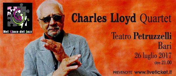 Charles Lloyd Quartet al Teatro Petruzzelli di Bari