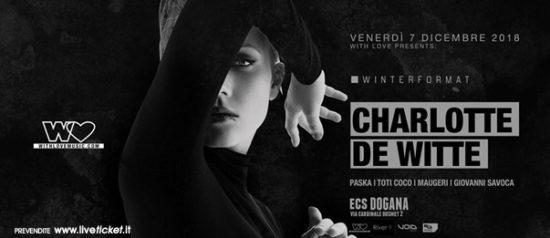 With Love presents: Charlotte de Witte al ECS Dogana Club a Catania
