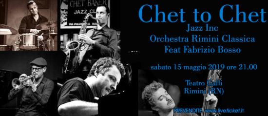 """JAZZ INC. Featuring Fabrizio Bosso e Orchestra Rimini Classica """"Chet To Chet"""" al Teatro Galli di Rimini"""