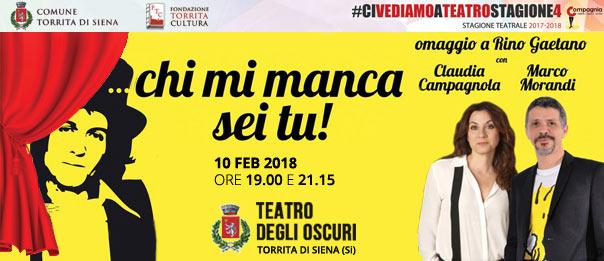 Chi mi manca sei tu..... omaggio a Rino Gaetano al Teatro degli Oscuri di Torrita di Siena