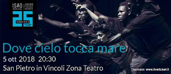 """Isao Festival """"Dove cielo tocca mare"""" al Teatro in San Pietro in Vincoli a Torino"""