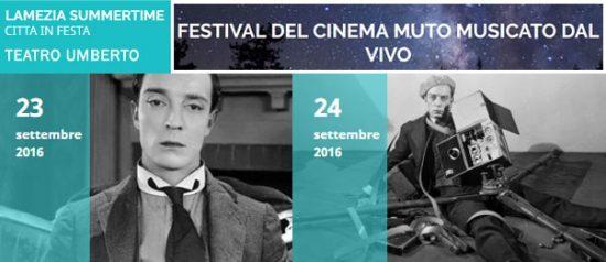 """""""Festival del Cinema Muto musicato dal vivo"""" a Lamezia Terme"""