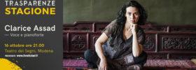 """Trasparenze Stagione """"Clarice Assad"""" al Teatro dei Segni a Modena"""