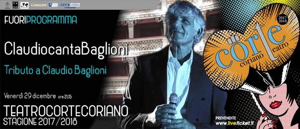 ClaudiocantaBaglioni al Teatro CorTe di Coriano