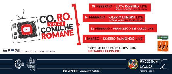 Co.Ro. – voci Comiche Romane al WEGIL a Roma