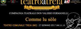 """Comme lu sòle"" al Teatro Comunale di Treia"