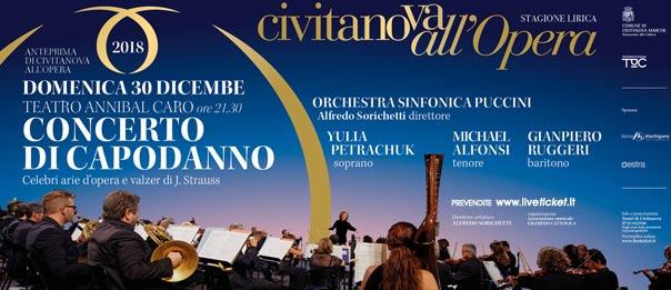 """Civitanova all'Opera """"Concerto di Capodanno"""" al Teatro Annibal Caro di Civitanova Marche Alta"""
