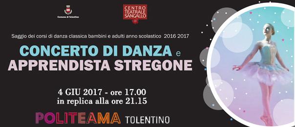 Concerto di Danza e Apprendista Stregone al Politeama di Tolentino