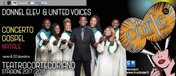 """Donnell Eley & United Voices """"Concerto Gospel"""" al Teatro CorTe di Coriano"""
