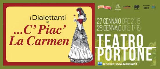 ...C' piac' la Carmen al Teatro Portone di Senigallia