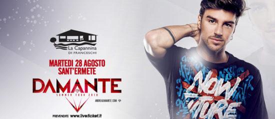 DJ Andrea Damante a La Capannina di Franceschi di Forte dei Marmi