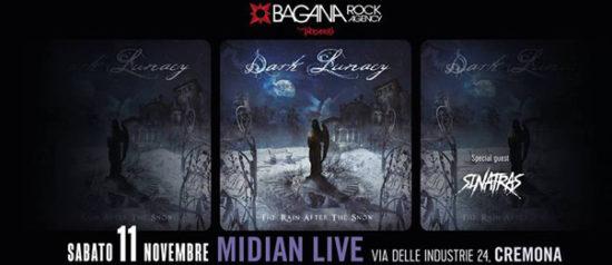 Dark Lunacy e Sinatras live al Midian Live Pub di Cremona